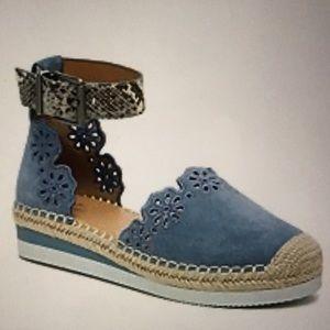 Crown Vintage Brixie Wedge Sandal NWT &  BLUE